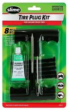Slime Tyre Plug Plugger Kit 5 Plugs Glue & Reamer Tool Car Van Puncture Repair