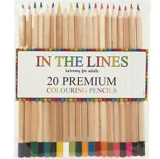 20 X lápices de terapia Premium de color vibrante artistas Colorante Dibujo De Calidad