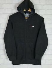 VINTAGE RETRO 90'S FILA HOODIE SWEATER SWEATSHIRT SPORT ATHLETIC URBAN UK XS/S