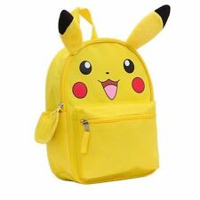 "Pokemon Pikachu Large School Backpack 16"" Book Bag with Plush Ear"