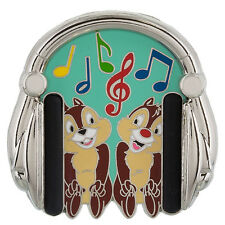 Disney Parks Chip and Dale Headphones Pin Trading Pins Music