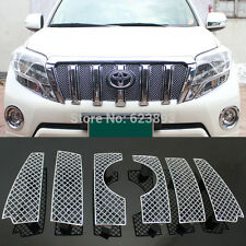 Front Grille Grill Bezel Honeycomb Mesh Cover For Toyota Prado FJ150 2014-2016