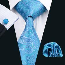 C-368 Men Ties Silk Tie Sets Tie Hanky Cufflink Necktie Set Wedding Business Tie