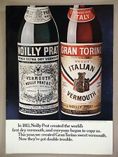 Noilly Prat Dry Vermouth PRINT AD - 1969 ~ Gran Torino Sweet Vermouth