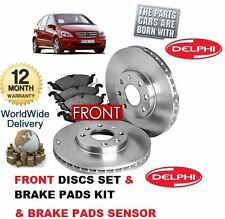 FOR MERCEDES B CLASS B180CDi B200 CDi FRONT BRAKE DISCS SET & PAD KIT & SENSOR