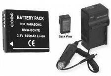 Battery +Charger for Panasonic DMC-FP3V DMCFP3V DMCFT10