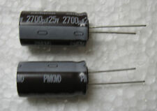 5 Nichicon 2700uF 25V PM series ultralow impedance Electrolytic Capacitors