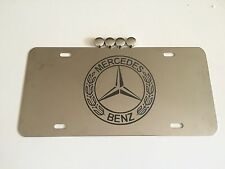 Classic Mercedes Benz Logo Decal on Stainless Steel License Plate