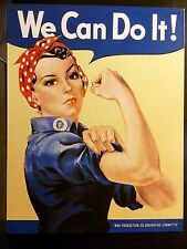 We Can Do It Rosie The Riveter TIN SIGN metal Poster Vtg Retro Wall Decor