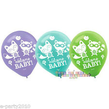 BABY SHOWER Woodland Welcome LATEX BALLOONS (15) ~ Party Supplies Decorations