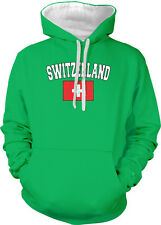 Switzerland Country Flag Swiss Pride Football Soccer 2-tone Hoodie Pullover
