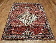 Persian Traditional Vintage Wool 235cmX167 cm Oriental Rug Handmade Carpet Rugs