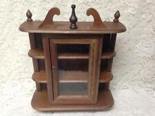 Vintage, Small Wooden Display  or Curio Cabinet- 18in x15in x5in