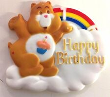VTG Care Bear Happy Birthday Cake Topper Change Number Age 1984 Amer Greetings