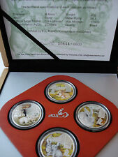 2011 Cook Islands  4x 2$ Year of the RABBIT 4x 20g Silver Coins Set