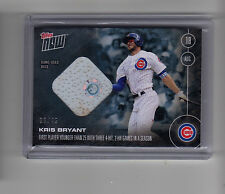2016 Topps Now Kris Bryant Cubs 2 HR 4 Hit Game Used Base Relic Card 36/49