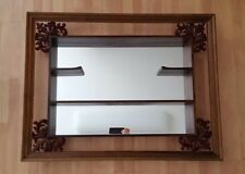 Mid Century Vintage Turner Wall Accessory Mirrored Curio Display Wall Shelf