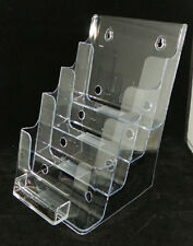 "Lot of 4 Deflecto 4 tier Bi fold & Business Card Holder 6""w Avon Catalog"