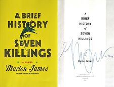 Marlon James~SIGNED & DATED~A Brief History of Seven Killings~1st Ed + PHOTOS!!