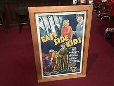 "1940 Monogram Pictures EAST SIDE KIDS Framed Movie Poster  "" Watch Video"""