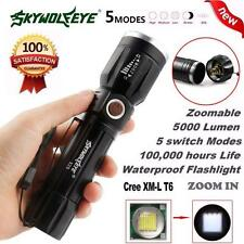 8000Lumen 5 Modes Zoomable CREE XM-L T6 LED 18650 Flashlight Torch 9NEW