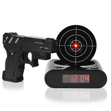 Gadget Funny LCD Gun Desk Alarm O Clocks Target Panel Shooting Game Toys