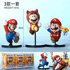 Super Mario Anime Manga Figuren 3er Set H:9cm Neu
