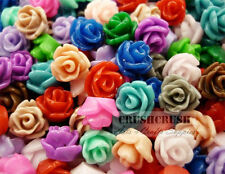 40pcs Tiny Resin ROSES FLOWER Flat Back Cabochons Nail Deco Flatbacks Rose F1201