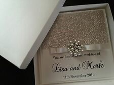 LUXURY Boxed Wedding Invitation personalizzata e qualsiasi colore