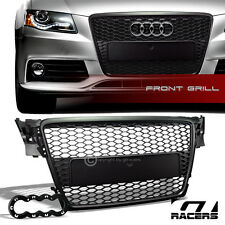 BLK HONEYCOMB MESH FRONT HOOD BUMPER GRILL GRILLE GUARD ABS 2009-2012 AUDI A4 B8