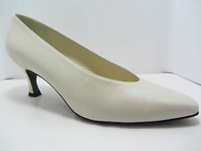Stuart Weitzman Vintage Ivory/Cream High Heels Pumps sz 9 Bridal Evening Wedding