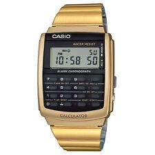 Casio CA-506G-9AEF Mens Collection Gold Tone Calculator Watch RRP £60
