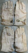 VIETNAM SOG ONE-ZERO's STABO M1950 Cream Color leather Heavy duty gloves size 4