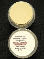MINERAL MAKEUP~5 gram~LOOSE POWDER~MICA~DARK CIRCLES~BARE~VEGAN~YELLOW CONCEALER