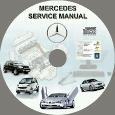 Mercedes ML230 ML320 ML350 ML430 ML500 ML270cdi Service & Repair Manuals DVD