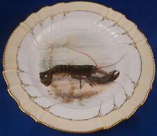 Art Nouveau KPM Berlin Porcelain Lobster Scene Plate Porzellan Teller Scenic