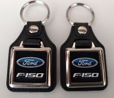 FORD F-150 KEYCHAIN FOB BLACK BLUE AND WHITE TRUCK LOGO