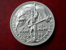 1933 ADOLF HITLER WW2 GERMAN EXONUMIA  REICHSMARK COIN + HOLDER SILVERED
