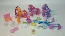 23 PIECE MY LITTLE PONY G3 LOT -  3 PONIES &  ACCESSORIES SCOOTALOO TWINKLE