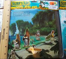 Surf's up Penguin Magnetic Play Set  : surfing animals ocean cartoon toy beach
