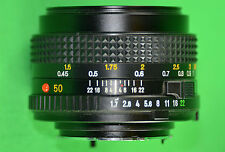 VINTAGE MINOLTA 35mm CAMERA LENS MD 50mm 1:1.7 FAST PRIME STANDARD MANUAL FOCUS