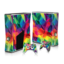 P47* Console+Controllers Full Body Decal Skin Sticker for Microsoft XBOX360 SLIM