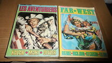 lot de 2 albums IMPERIA - Far west + les aventuriers