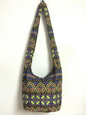 Thai Heart Print Bag Shoulder Purse Boho Hobo Hippie Cross Body Sling Gypsy B623
