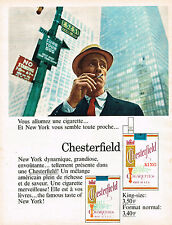 PUBLICITE ADVERTISING 124  1966  CHESTERFIELD  cigarettes NEW-YORK