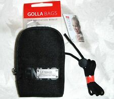 GOLLA BAGS Black Universal Compact Camera Bag Pouch New