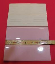 "50 X Vintage & Rare…Glossy Pink 2"" X 6"" Bullnose Tile by The MID-STATE Tile Co."