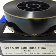 ORIGINAL KINO Trailer der unglaubliche Hulk MOVIE Film 35mm (FSK 16)