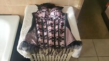 Ann Summers Dotty Boudoir Corset Basque Black & Pink Size 10 New With Tags