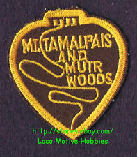 LMH Patch MOUNT TAMALPAIS MUIR WOODS Railroad  MT&MW MTMW Railway MT. Crookedest